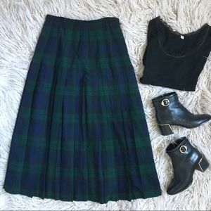 VTG Brooks Brothers Wool Tartan Long Checked Skirt